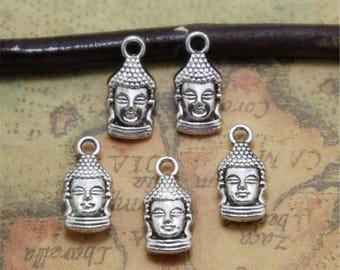 15pcs Buddha Charms silver Tone Maitreya Buddha Charm Pendants 22x14mm ASD0314
