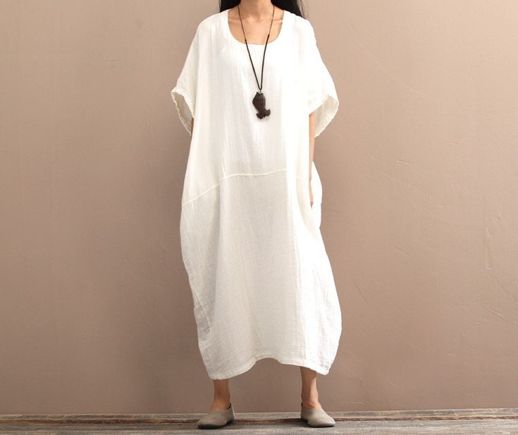 White linen dress | Etsy