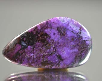 Rare BEST quality Sugilite cabochon - purple-blue - Wessel mine South Africa - Absolutely best quality - perfect for jewellery - 12.5 carats