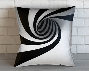 Optical Illusion: Swirl Pillow