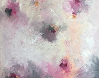 Untitled #17: Original Abstract Floral Oil Painting