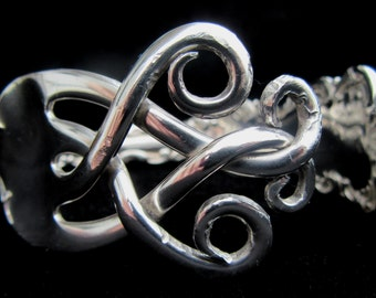 Sterling Silver Fork Bracelet - Can also be made using silverware provided by you