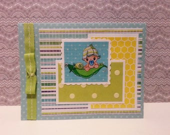 Baby in a Pea Pod Card