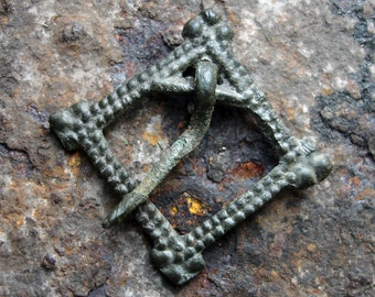 Ancient VIKING AGE 10th-11th Century AD Bronze Brooch Fibula / Authentic Viking Artifact