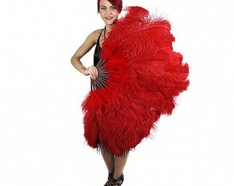 Prime Femina Ostrich Feather Fan - P2