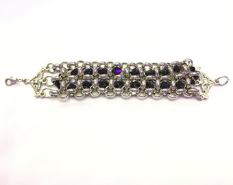 Handmade Vintage bracelet, Silver jewelry Handmade with great care. swarovski stones. Amazing bracelet for every occasion