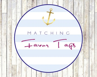 Matching Favor Tags - Printable DIY