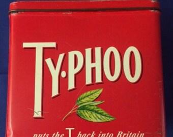 Vintage Typhoo Tea Storage Tin - c. 1980's