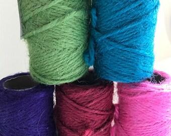 Coloured Jute, string reels, twine, craft , sewing jute string, 20 meters, craft ideas