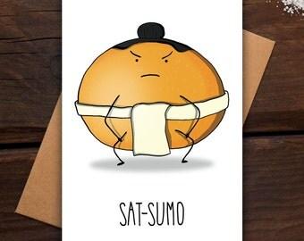 Sat-Sumo - Greeting card