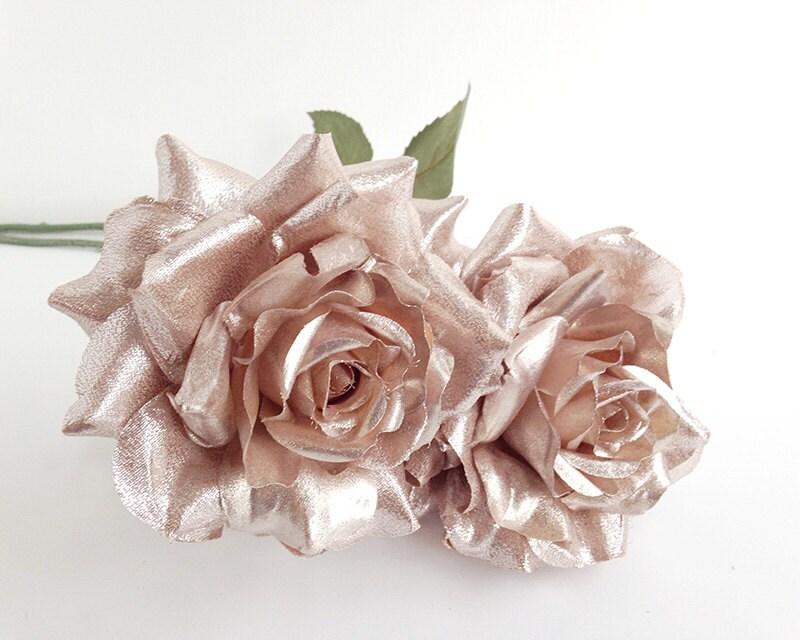 Rose Gold Flower Silk Flowers Wedding Rose Gold Blossom