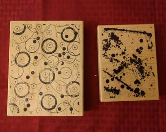 Large abstract stamps