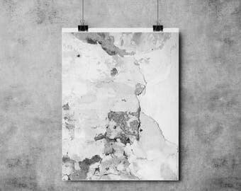Grey Concrete - (A4/A3) - Print / Poster / Fashion / Texture / Monochrome / Grey and Black