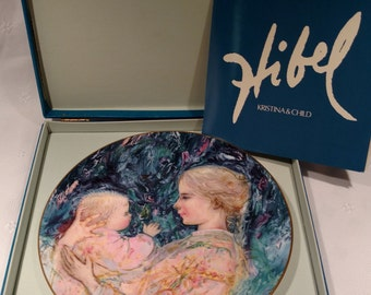 Collectors International by Royal Doulton Of Canada -Edna Hibel Plate Kristina and Child