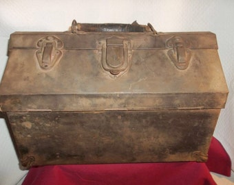 Vintage Kennedy Kits Machinist Tool Box Chest All Metal Industrial Toolbox--Rare!!