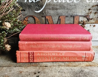Old Books - Old Red Music Lovers Books