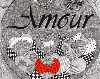 Little book 'Love' to offer for Valentine. Gift, art, decoration, illustation