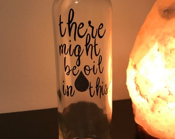 Glass water bottle for essential oils