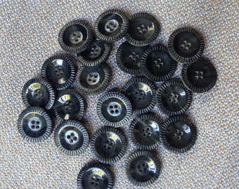 22 vintage grey buttons c1940s