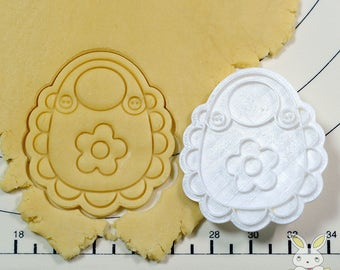 Bib with Flower Cookie Cutter and Stamp