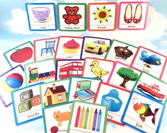 First words flash cards, Nursery, Early years, Learning cards, EYFS, Children's development, Teaching resource, Pre-school, 1st words