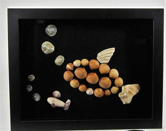 Fish Mosaic With Shells