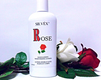 ROSE Hand & Body Moisturizing Lotion  with Pearls, Damascus Rose Water and Anti-oxidants 240ml (8oz)