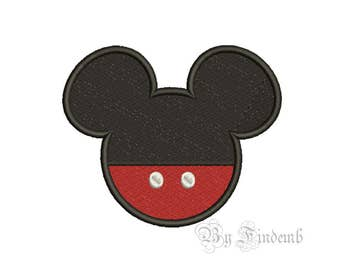 Mickey Mouse Embroidery Designs 8 size Instant Download