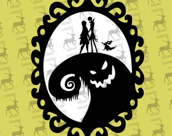Nightmare Before Christmas, Oggie Boogie, Digital File, SVG, DXF, EPS, for use with Silhouette Studio and Cricut Design Space