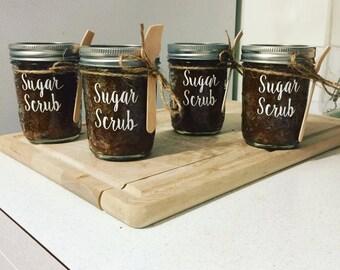 Pumpkin sugar scrubs, sugar scrub, brown sugar, all natural
