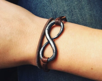 Hand forged Infinity pendant