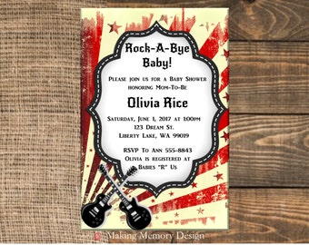 Rock-A-Bye Baby Shower Invitation
