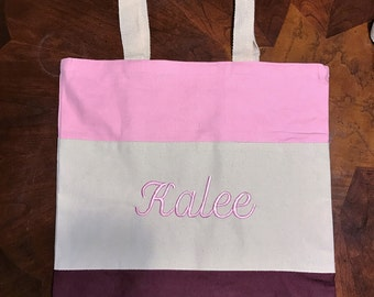 Personalized tote, Bridesmaid tote, Wedding Tote, Embroidered tote,