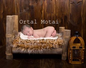 digital newborn backdrop, digital background, newborn prop,newborn wood bed, Digital download, digital newborn bed, newborn boy props
