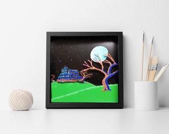 Maniac Mansion -  Shadow Box, Diorama, Commodore 64, Apple II, IBM, PC, Nes