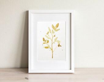 Illustration feuillage, Leaf illustration / fait main, handmade