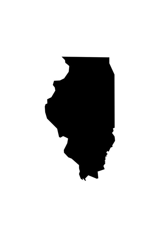 State Of Illinois Il Outline Laptop Cup Decal Svg Digital