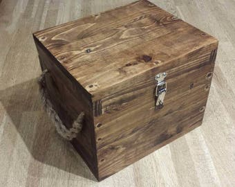 Rustic vintage reclaimed wooden tool box sewing box