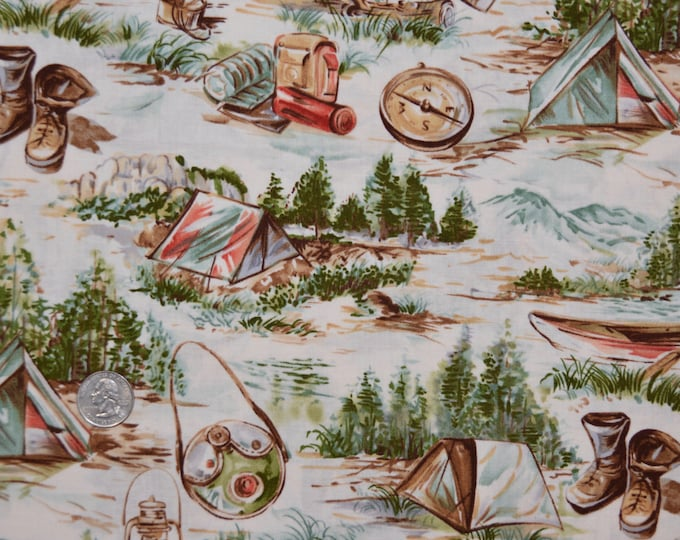 Robert Kaufman Registered Boy Scout Fabric - 100% Kona Cotton - RARE