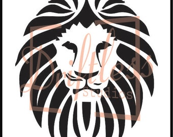 Lion Head Stencil