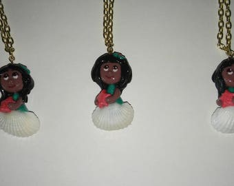 Chibi Sea Shell Clay Charm Girl