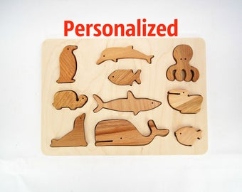 Holiday Gift Baby Toy Personalized Wood Toddler Toy Montessori Learning Toy  Gift Ideas Natural Toy 2 in 1 Balance Sorter Wooden Toys
