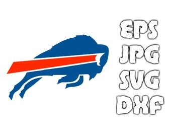Buffalo Bills logo SVG - Vector Design in Svg Eps Dxf Jpeg Format INSTANT DOWNLOAD