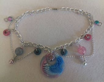 Mermaid inspired fantasy charm necklace/girlie gifts