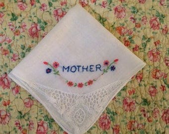 """Vintage Handkerchief / """"Mother"""""""