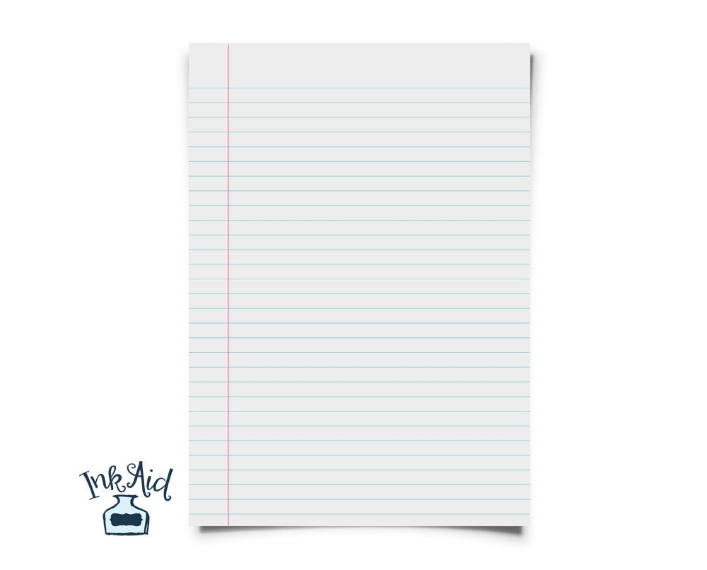 Print Your Own NOTEBOOK Paper – Printable Wide Ruled Paper