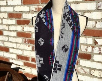 Pendleton wool fringe infinity scarf
