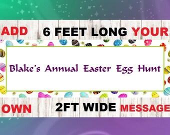 Easter Egg Garland, Easter Egg Banner, Easter decoration,egg sign