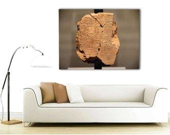 Epic of Gilgamesh - Clay Tablet V Canvas - Babylon/Sumerian/Assyrian/Anunnaki 40x30, 20x16, 16x12 - 3 Sizes Available