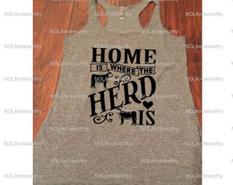 Home Is Where The Herd Is Tank Top Womens